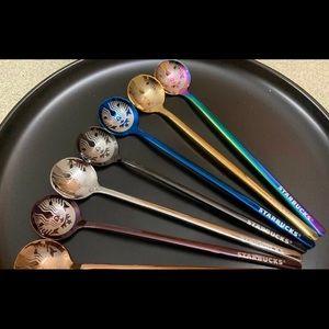 Starbucks- Oil Slick Stir Spoon - 💜🥄